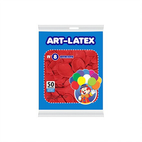 Balões Art-latex Nº8 10 Pacotes C/50un