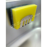 Suporte Porta Esponja Em Inox 304 P/ Pia - Fixação Ventosa