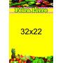 Cartaz Feira Livre Papel Cartão 250g ( 32x22cm) Pct 1000und.