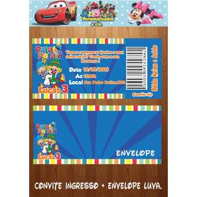 Convites Ingressos + Envelope Luva