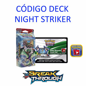 Código Pokémon Tcg Online Deck Night Striker Breakthrough