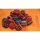Set De 3 Pelotitas Tejidas En Crochet Para Malabares/ Adorno