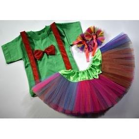 Disfraz Nena Payaso Circo Arlequín Clown Completo Infantil