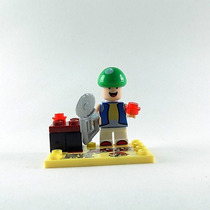 Bonequinho Super Mario Bros Wario Luigi Toad Nintendo Lego