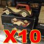 Pak 10 Carros De Madera Antiguo Coleccion Publicidad Decora
