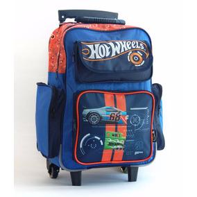 Mochila Con Carro Hot Wheels Con Licencia Original 18 Azul
