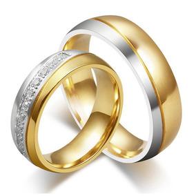 Aliança De Namoro Compromisso Noivado Bodas Banho Ouro Prata