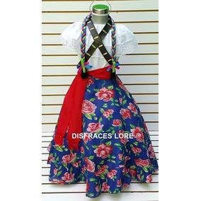 Vestido Disfraz Adelita Falda Blusa Carrilleras Niñas