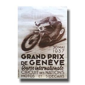 Placa De Motocicletas Cod. 110016 Gp Geneve 1937