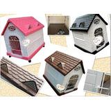 Casitas Casa Perros Pequeñosy Gatos Con Puerta 66x66x48