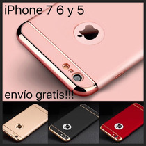 Funda Luxury 3 En 1 Iphone 7 6 5 Cromo Pc