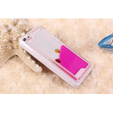 Capa Iphone 5c Glitter Aquario Liquido Peixe