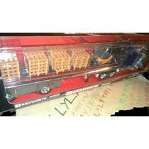 Trailer Kenworth W900 Azul Con Montacargas Y Tarim Lyly Toys