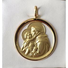 Pingente Medalha De Santo Antonio - Joias e Relógios no Mercado ... 6a53881b00