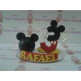 Vela Topo Personalizada Mickey, Mickey Baby, Mickey Safari