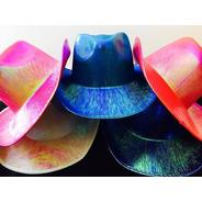 Gorro Sombrero Cowboy Brillo Vaquero Colores Carioca Fiesta