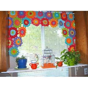 Cortinas crochet cortinas otros en bs as g b a norte for Cortinas de gancho para cocina