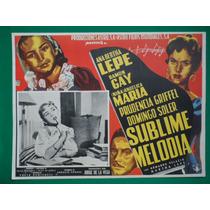 Angelica Maria Sublime Melodia Ana Bertha Lepe Cartel D Cine