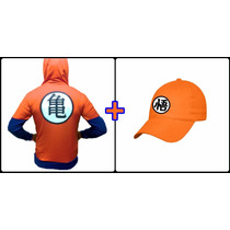 2pack Sudadera+gorra Bordada Goku, Dragon Ball, Envio Gratis