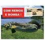 Barco Bote Inflável -mor- Fishman 350 Com Remos E Inflador