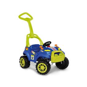 Carrinho Passeio Infantil Azul Menino Bebe Criança C/ Pedal