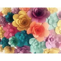 Flores De Papel Gigantes Combinadas