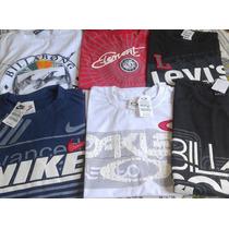 Kit C/ 5 Camisetas De Marcas Famosas Aproveite