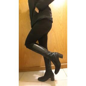 Botas Clona De Cuero Negras Caña Alta(oferta)!!!