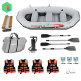 Bote Inflable Mariner 4 + 4 Remos + 4 Chalecos + 3 Parches