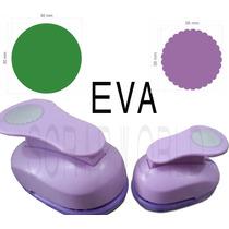Furadores Eva E Papel Círculo Liso 5cm + Escalopado 3,8cm