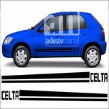 Adesivo Lateral Chevrolet Para Celta Sport Gm Faixa Clt-10