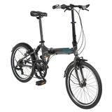 Bicicleta Dobrável Portátil C/ Amortecedor 7 Veloc. Mod Jump