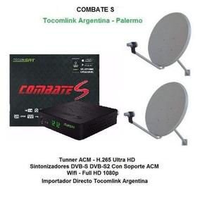 Tocomsat Combate S Acm H265 + 2 Ant 60 + 2 Lnb Tocomlink Arg
