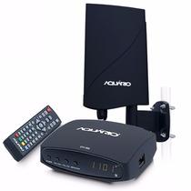 Kit Conversor Digital Aquário Dtv-7000 + Antena Dtv-5600 Hd