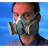 Mascara Dos Flitros Ref. 6200 3m Gases Y Vapores Fumigacion