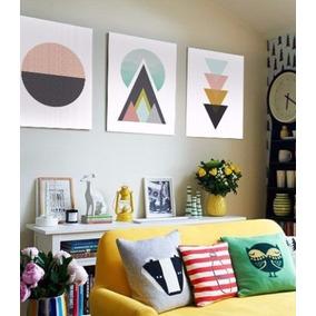 cuadros trpticos modernos abstractos formas geomtricas