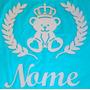 Painel Aplique De Parede Urso Rei Principe C/ Ramos Mdf Cru