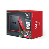 Wii Mini Rojo Con Mario Kart Wii