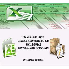 Control Stock Plantilla Hoja Excel Inventario Almacen Tienda