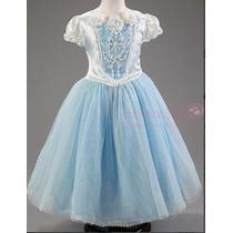 Vestido Fantasia Princesa Cinderela + Capa Frete Gratis