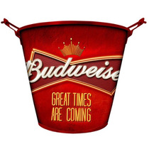 Balde De Gelo P/ Cerveja Em Alumínio Budweiser Dr. Cooler 5l