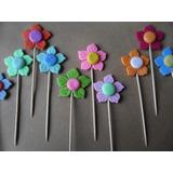 Flores Para Tortas - Masa Flexible Colores Calidos Docena