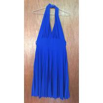 Vestido De Fiesta · Falda 3/4 Talla M Azul