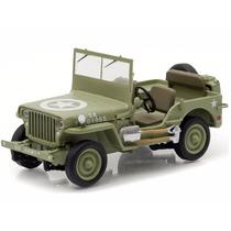 Miniatura De Jeep Willys C7 1944 U.s Army 1:43 Greenlight
