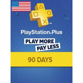 Cartão Psn - Playstation Plus 3 Meses Americano Us - Códigoo
