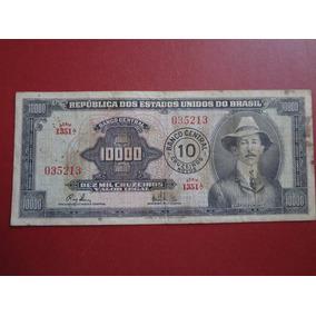 Cédula C 125 Dez Cruzeiros Novos 1967 Lote 007