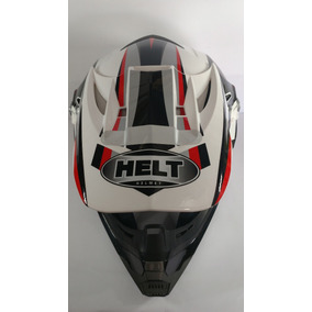Capacete Helt New Cross Design Branco C/verm (73100) -tam 62