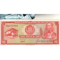 Perú Billete 10 Soles De Oro 1970 Pick 100b - Excelente++