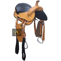 Sela Americana Barata De Cavalo Cela Em Couro + Brinde!!!