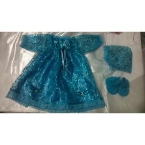 Vestido Para Niño Dios De 25cm Organza Gliter